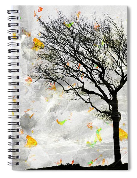 Blowing It The Wind Spiral Notebook