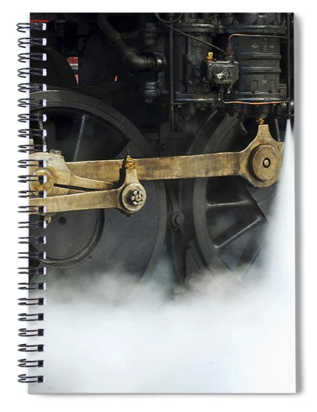 Blowing Of Steam Spiral Notebook