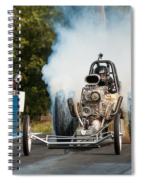 Blown Front Engine Dragster Burnout Spiral Notebook