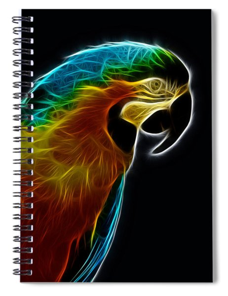 Blue And Gold Macaw Frac Spiral Notebook
