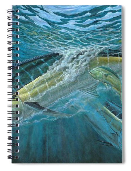 Blue And Mahi Mahi Underwater Spiral Notebook