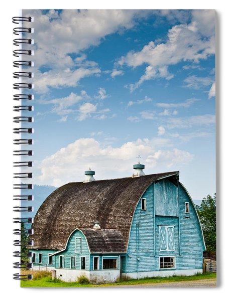 Blue Barn In The Stillaguamish Valley Spiral Notebook
