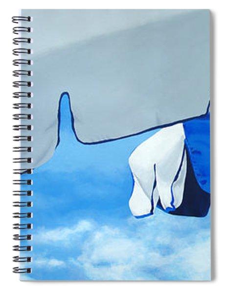 Blue Beach Umbrellas 2 Spiral Notebook