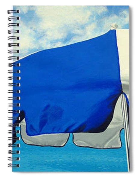 Blue Beach Umbrellas 1 Spiral Notebook