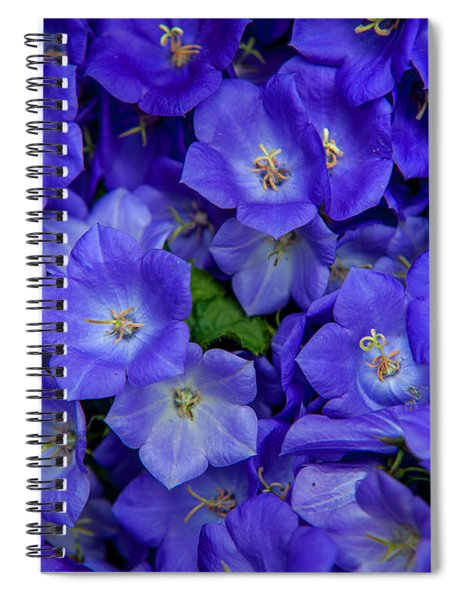 Blue Bells Carpet. Amsterdam Floral Market Spiral Notebook