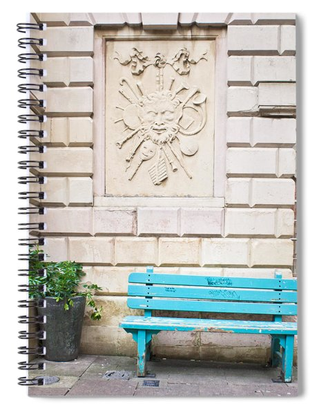 Blue Bench Spiral Notebook