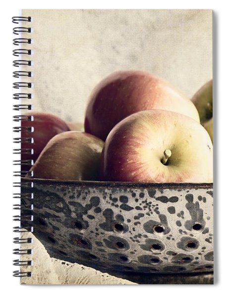Blue Bowl Of Apples Spiral Notebook