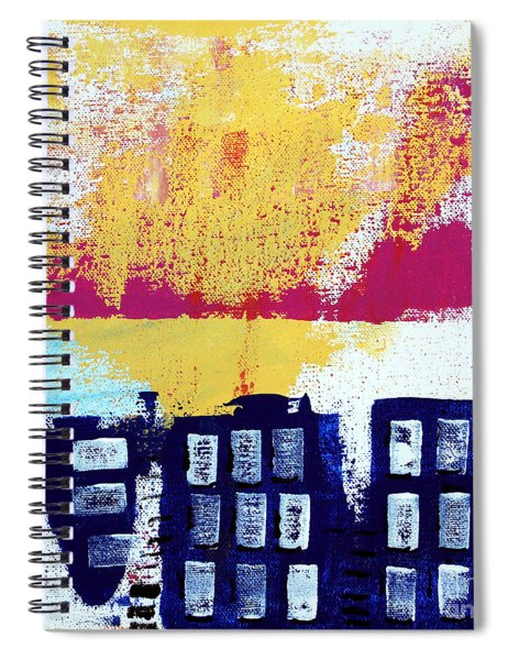 Blue Buildings Spiral Notebook