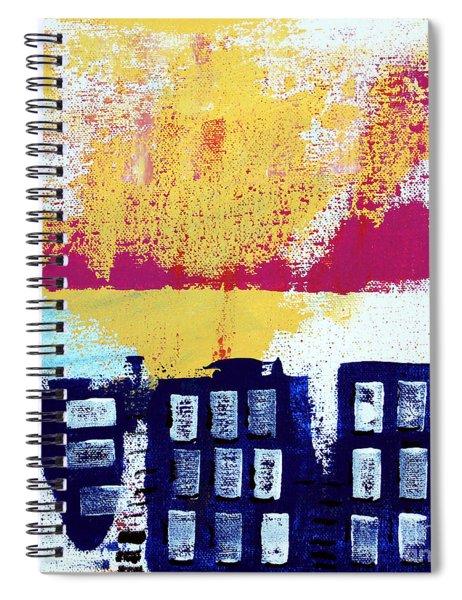 Blue Buildings Spiral Notebook