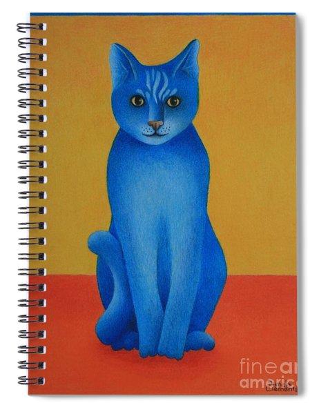 Blue Cat Spiral Notebook