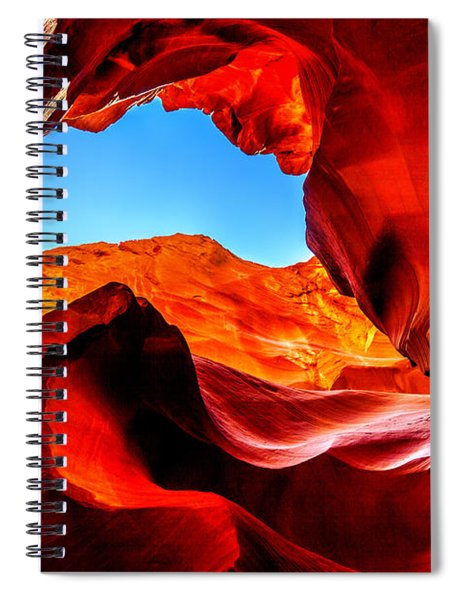 Blue Ceiling Spiral Notebook