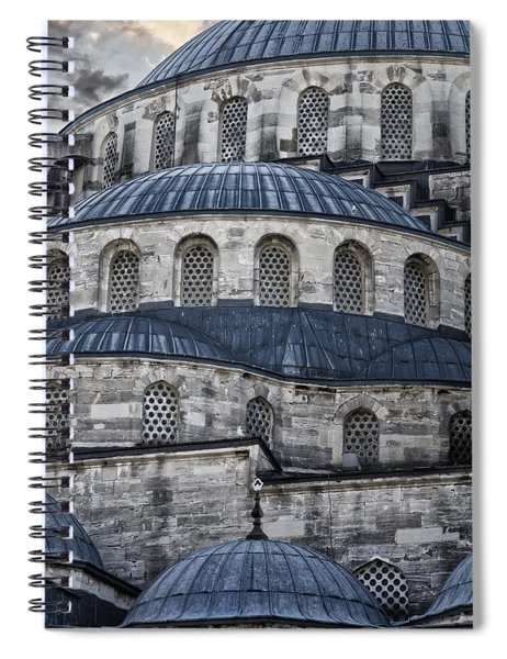 Blue Dawn Blue Mosque Spiral Notebook