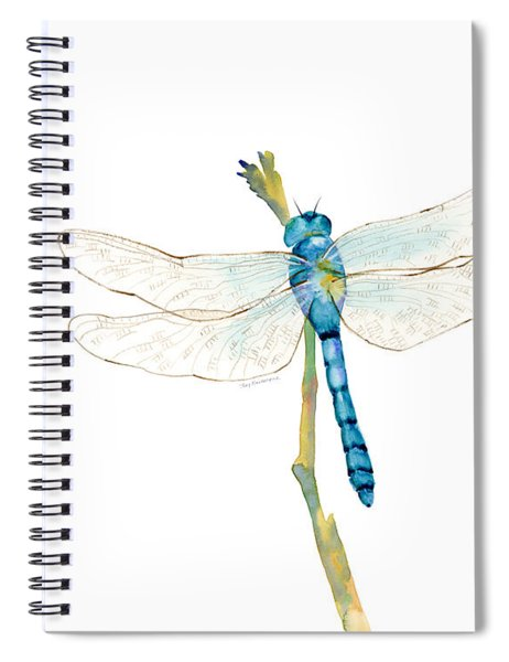 Blue Dragonfly Spiral Notebook