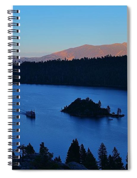 Blue Emerald Bay Lake Tahoe Spiral Notebook