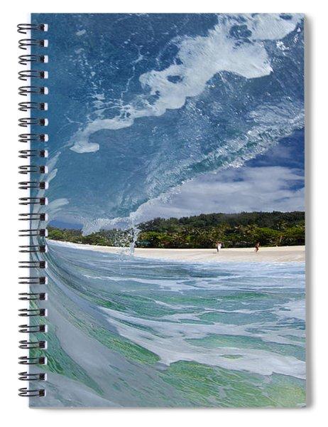 Blue Foam Spiral Notebook