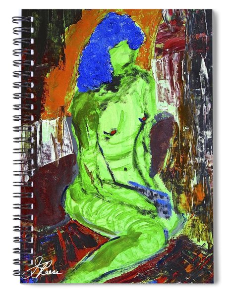 Blue Haired Nude Spiral Notebook