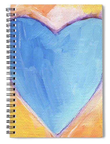 Blue Heart Spiral Notebook
