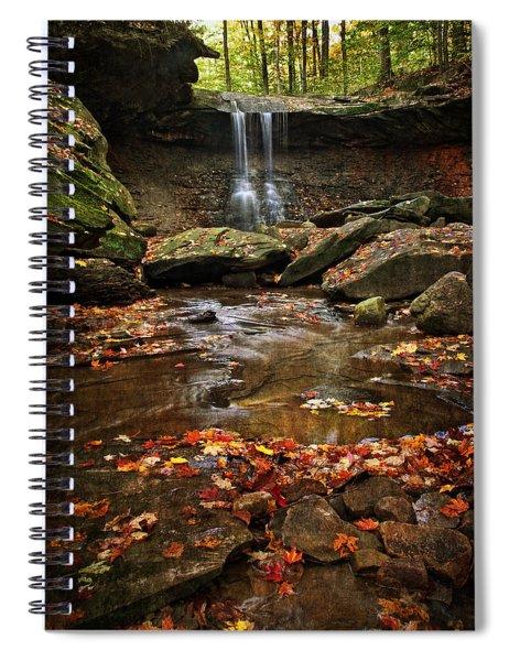 Blue Hen Falls In Autumn Spiral Notebook