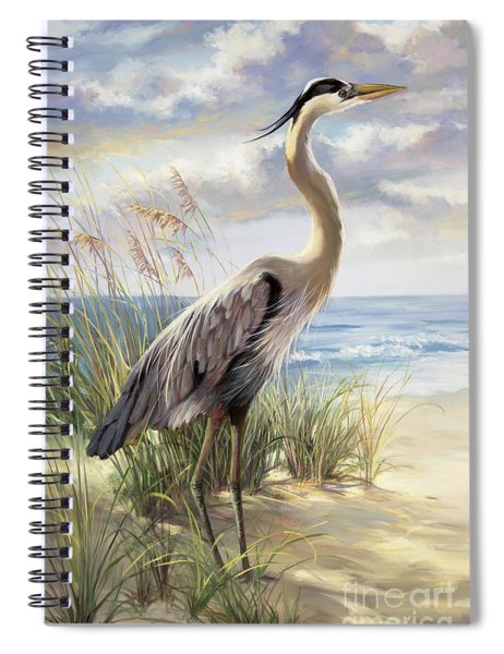 Blue Heron Deux Spiral Notebook