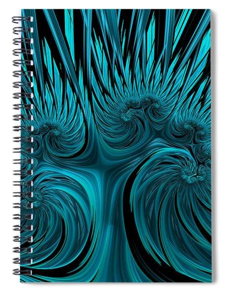 Blue Hydra Spiral Notebook