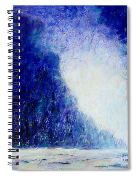 Blue Landscape - Abstract Spiral Notebook
