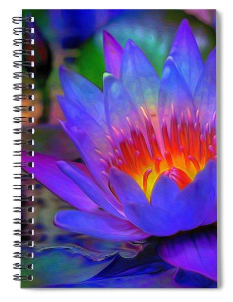 Blue Lotus Spiral Notebook