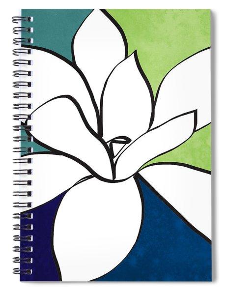 Blue Magnolia 1- Floral Art Spiral Notebook