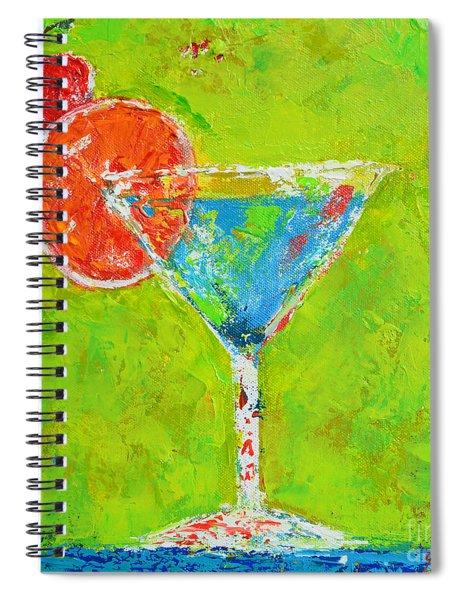 Blue Martini - Cherry Me Up - Modern Art Spiral Notebook