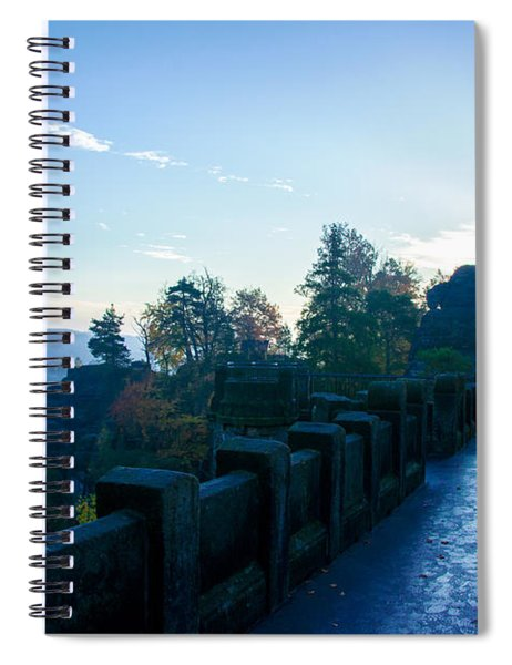 Blue Morning On The Bastei Spiral Notebook