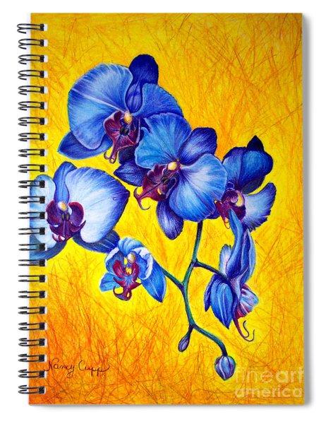 Blue Orchids 1 Spiral Notebook