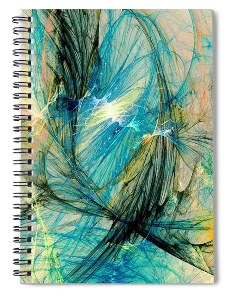 Blue Phoenix Spiral Notebook