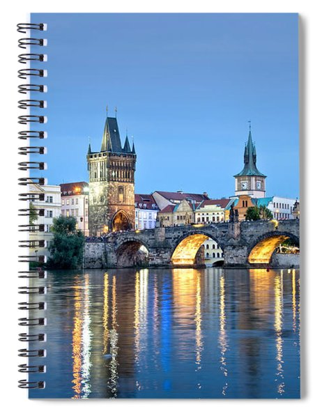 Blue Prague Spiral Notebook