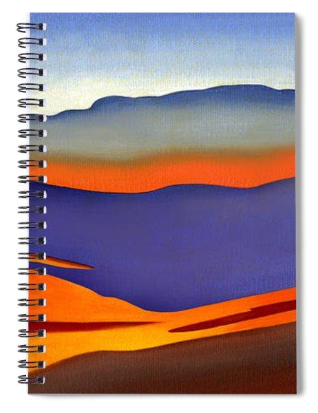 Blue Ridge Mountains East Fall Art Abstract Spiral Notebook
