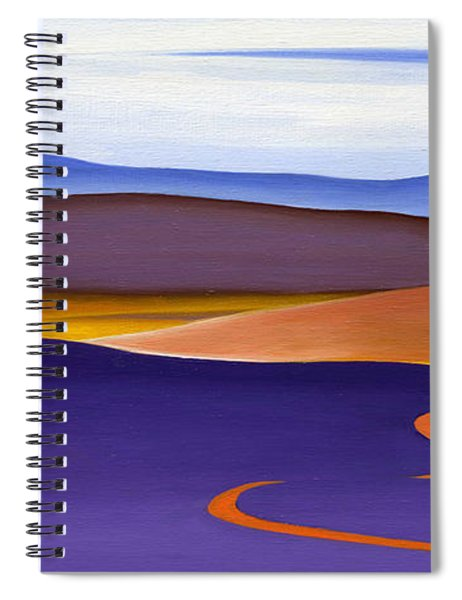 Blue Ridge Orange Mountains Sky And Road In Fall Spiral Notebook