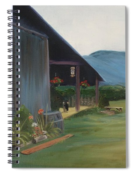 Blue Ridge Vineyard Spiral Notebook