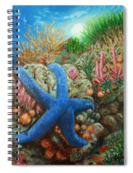 Blue Seastar Spiral Notebook