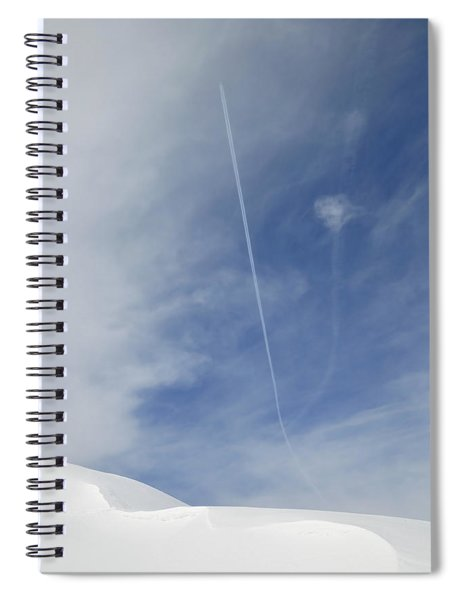 Blue Sky And Snow Spiral Notebook