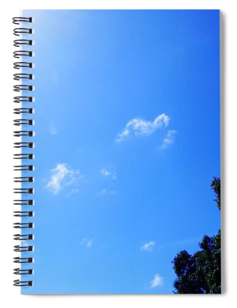 Blue Sky And Sunshine Spiral Notebook