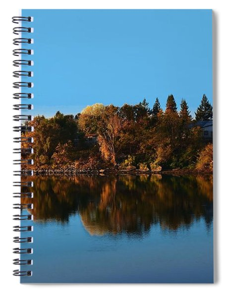 Blue Sky Blue River Spiral Notebook