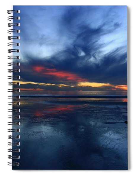 Cardiff By The Sea Symphony   Spiral Notebook