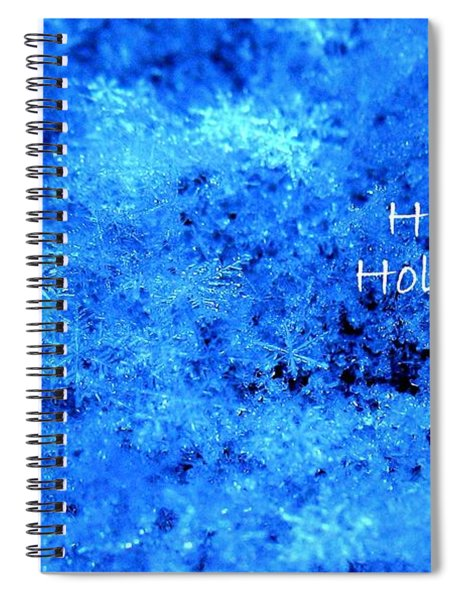 Happy Holidays Spiral Notebook by Patti Whitten