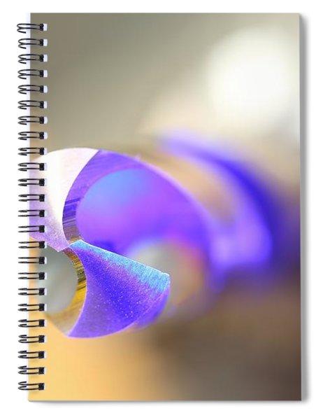 Blue Three Quarter Spiral Notebook