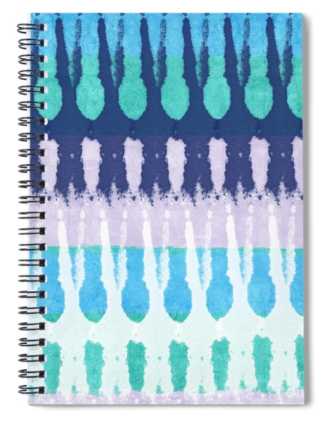 Blue Tie Dye Spiral Notebook