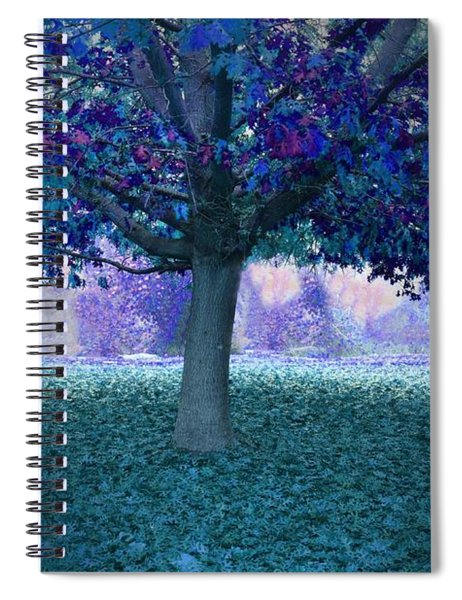Blue Tree Monet Painting Background Spiral Notebook