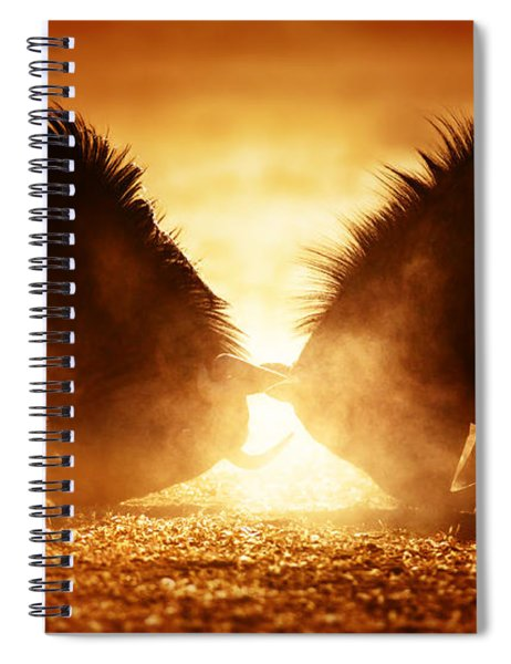 Blue Wildebeest Dual In Dust Spiral Notebook