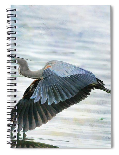 Blue With Grace And Beauty Spiral Notebook