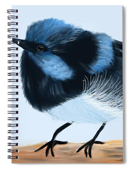 Blue Wren Beauty Spiral Notebook