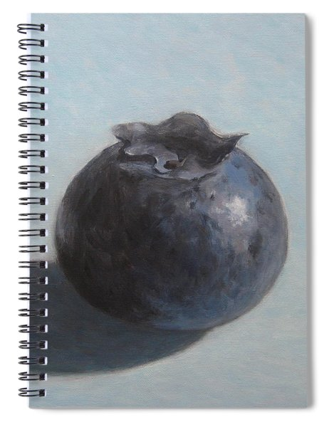 Blueberry On Blue Spiral Notebook