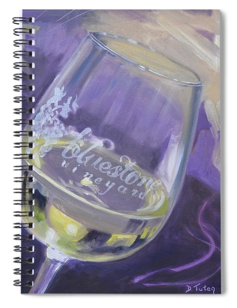 Bluestone Vineyard Wineglass Spiral Notebook