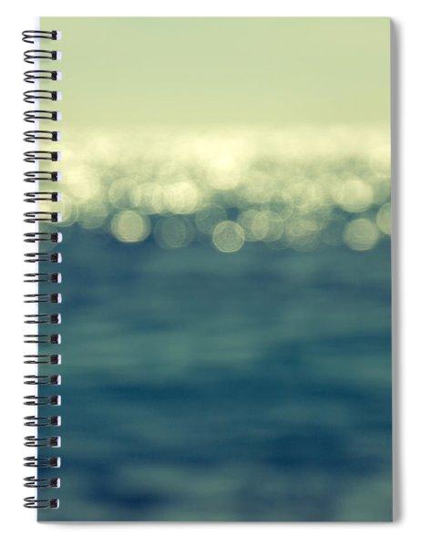 Blurred Light Spiral Notebook